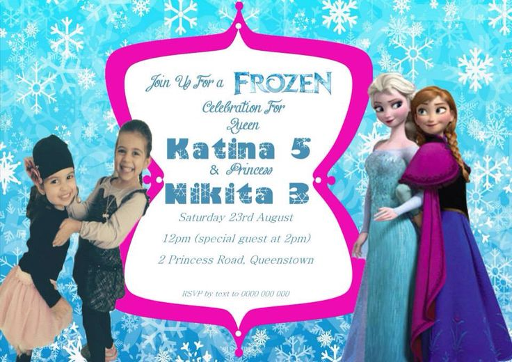 Frozen Invitation $12AUD emailed to you - you print and frame PAYPAL ACCEPTED!  Order here  www.facebook.com/readyforprint