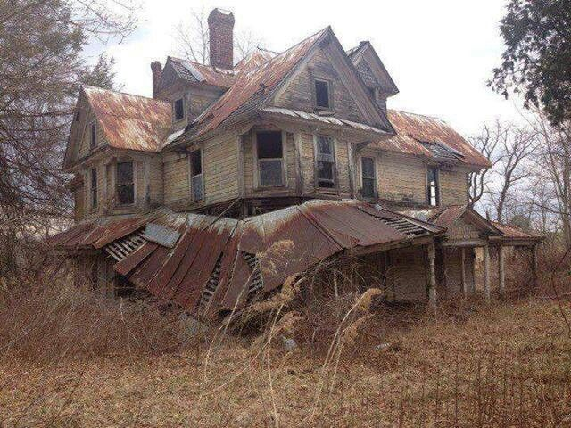 Abandoned House In The Woods Outside Of Bangor Maine Old