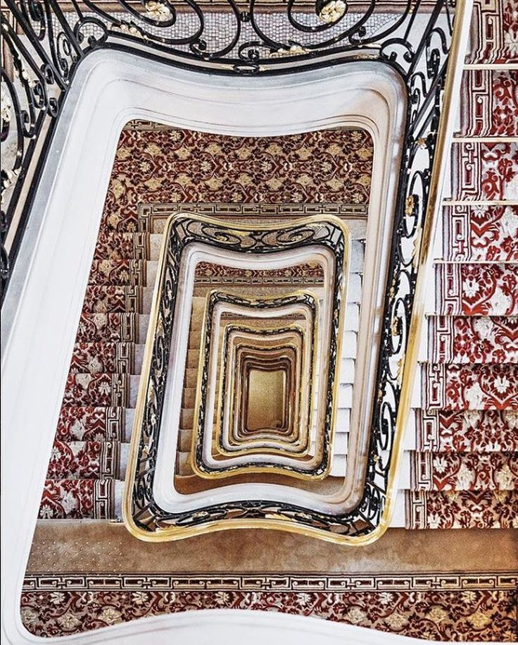 """1,992 Likes, 19 Comments - Hôtel Plaza Athénée (@plaza_athenee) on Instagram: """"This is what we call a stairway to heaven✨Thank you @andreatamburrini for this vertiginous shot…"""""""