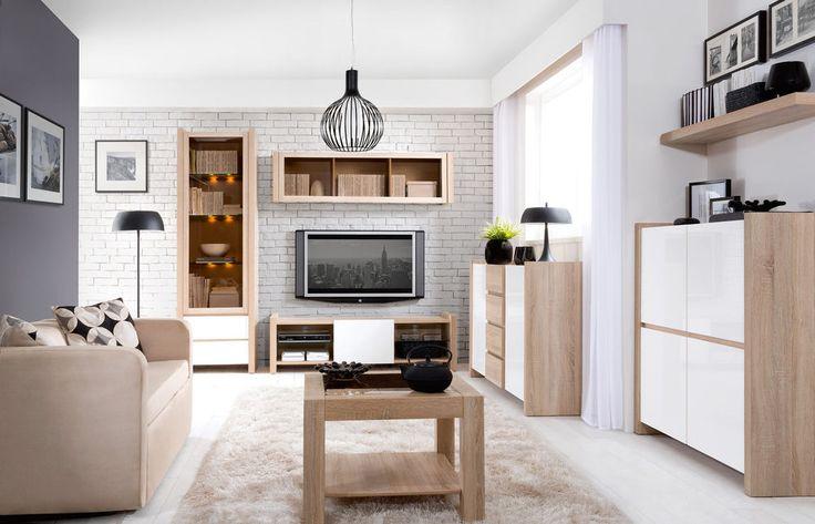 Living Room Furniture Set with Lighting | TV Stand & Display Cabinet VENOM MIX