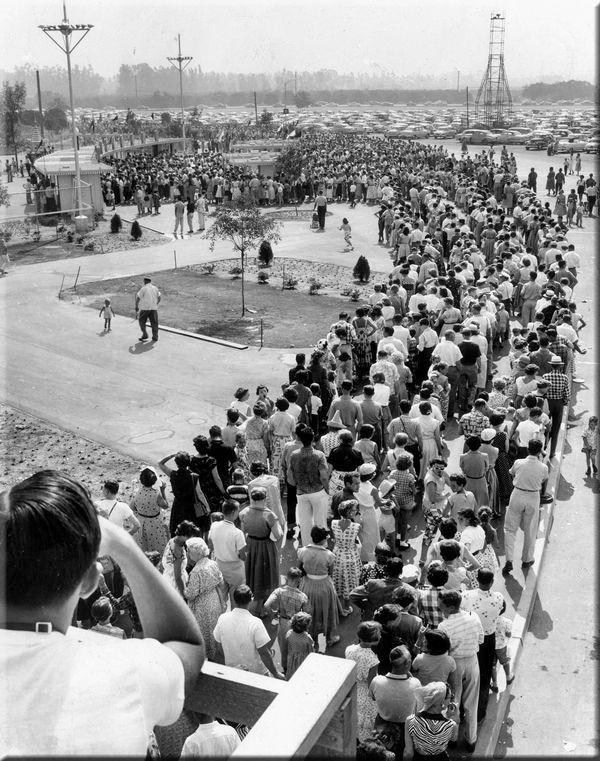 Opening day of Disneyland - 1955