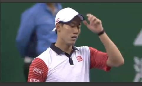 A tired-looking Kei Nishikori is out of Shanghai - he loses 6-7(5), 4-6 to Jack Sock  Grigor Dimitrov is also out - both in Federer's quarter ...
