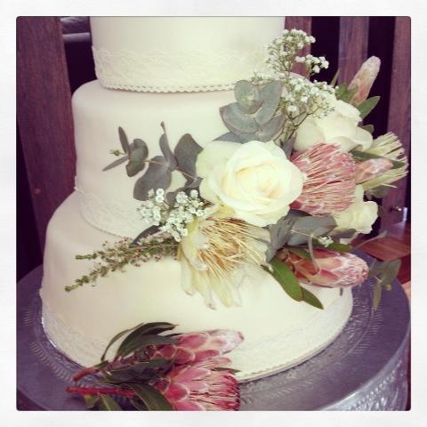 Fynbos Wedding Cake - this was so much fun to bake and decorate!