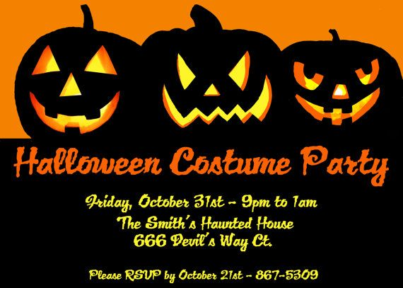 17 Best images about Halloween Party Invitations – Halloween Party Invitation Card