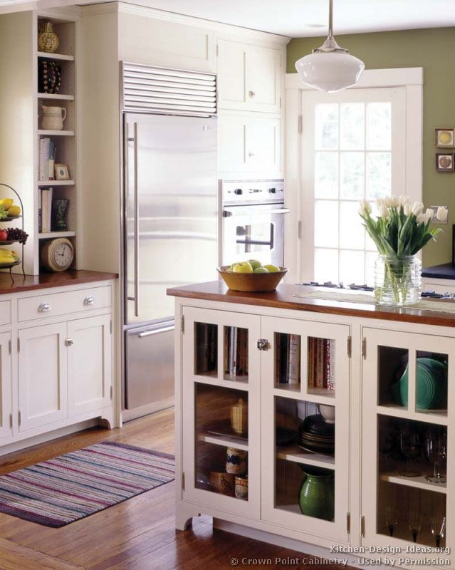 Lovely Idea Of The Day: White Kitchens Brighten Up The Home. (By Crown Point  Cabinetry)