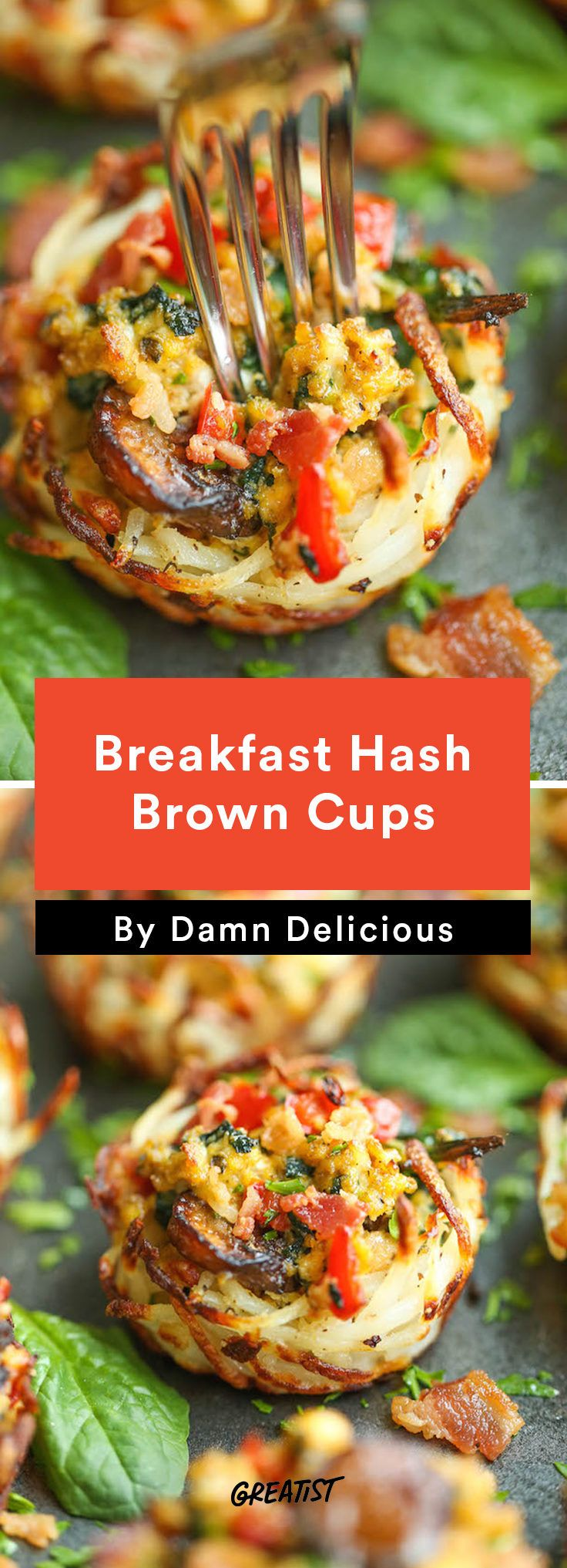1. Breakfast Hash Brown Cups #healthy #breakfast #recipes http://greatist.com/eat/healthy-breakfast-cup-recipes-to-fuel-your-mornings