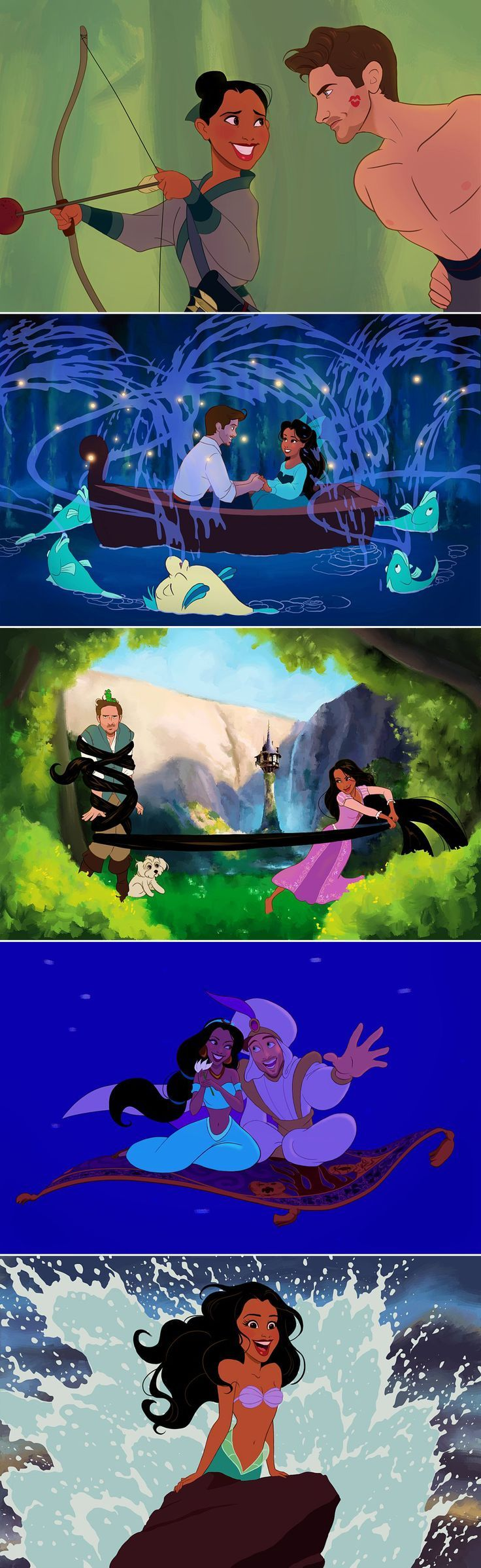 Best. Valentine. Ever. This boyfriend turned his girlfriend and himself into Disney princes and princesses! disney characters #disney