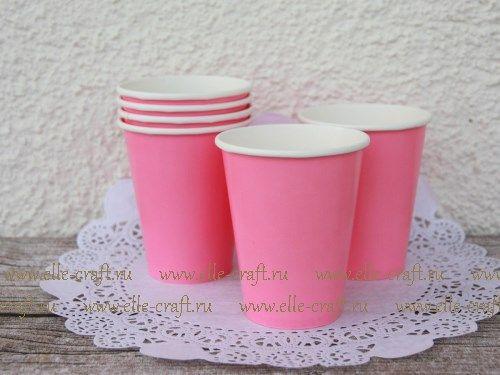 Купить Бумажные стаканчики Light Pink, 8 шт в интернет-магазине elle-craft с доставкой