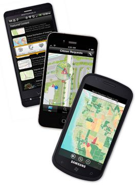 ArcGIS on Smartphones:  The ArcGIS App for Smartphones and Tablets extends the reach of your GIS from the office to the field. Navigate maps, collect and report data, and perform GIS analysis using the free downloadable application from Google Play, the Apple App Store, Amazon Appstore, and Windows Marketplace. The app includes a developer focused Runtime SDK that you can leverage to build your own custom mobile applications. http://www.esri.com/software/arcgis/smartphones/index.html