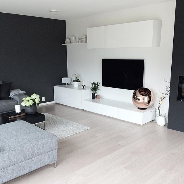 TV wall with storage.