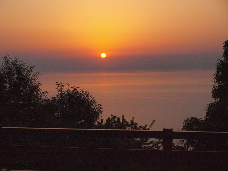 The dawn at the east Pelion