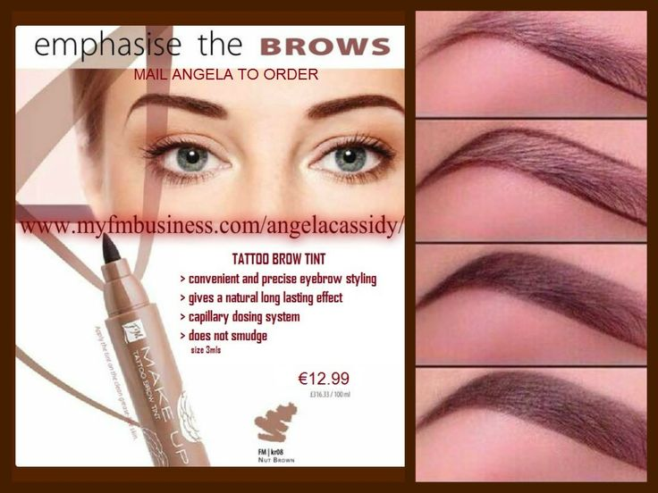 "ONE OF MY BEST SELLERS! If you struggle trying to shape those brows - then you need to try this fabulous long lasting Tattoo Brow Tint - felt tip pen allows precision application & perfectly shaped brows in an instant- Makes it soooo much easier to get the ""perfect"" brow lines!  PERFECT COLOUR WITHOUT SMUDGES- Provides a natural and long-lasting effect. Emphasises the shape of your eyebrows and makes them seem more dense.!! Buy the Tattoo Brow Tint - €12.99 & get a brow pencil for €4"