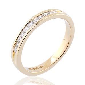 Malakan Jewelry - Yellow Gold Diamond Wedding Band  51888WA