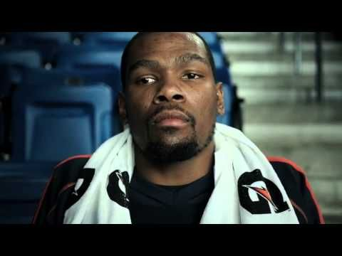 Outstanding Gatorade TV & Internet commercial -- Kevin Durant dreams that Dwayne Wade blocks his shot, so he trains hard and uses Gatorade products to get better.  Ad shown a lot on NBA playoff games.
