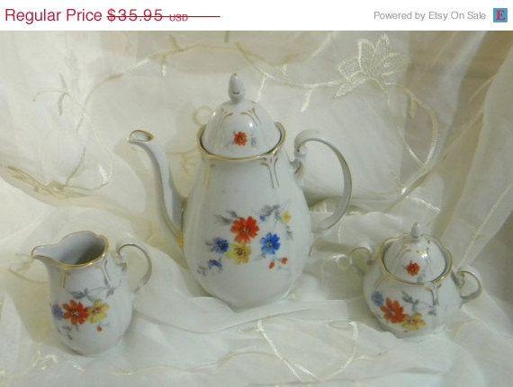 Clearance Sale Vintage German Bavarian Tea Set Post by RitasGarden