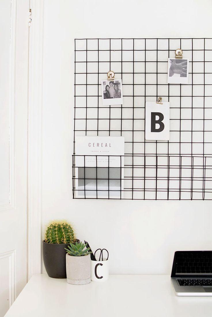 DIY | memo board storage grid @burkatron