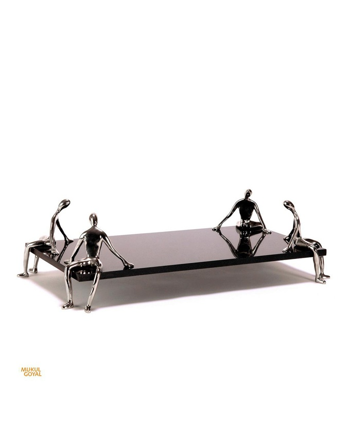 Lazy Platform Platter by Mukul Goyal! http://www.aura-b.com/home-accessory/lazy-platform-platter/