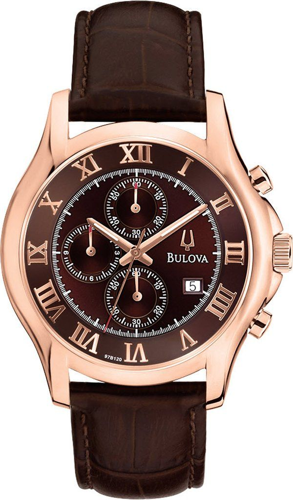 @bulova  Watch Gents Dress #bezel-fixed #bracelet-strap-leather #brand-bulova #bulova-core-line #case-depth-mm #case-material-rose-gold #case-width-mm #chronograph-yes #date-yes #delivery-timescale-4-7-days #dial-colour-brown #fashion #gender-mens #movement-quartz-battery #official-stockist-for-bulova-watches #packaging-bulova-watch-packaging #style-dress #subcat-dress #supplier-model-no-97b120 #warranty-bulova-official-3-year-guarantee #water-resistant-30m