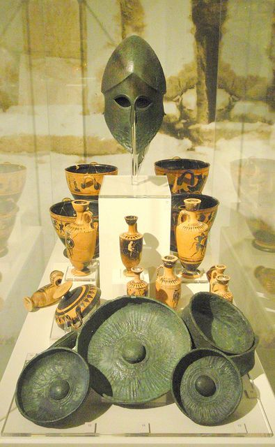 Grave goods from the 'Warrior Grave' Necropolis of ancient Hermione, ca 500 BC. AM of Nafplion, Greece