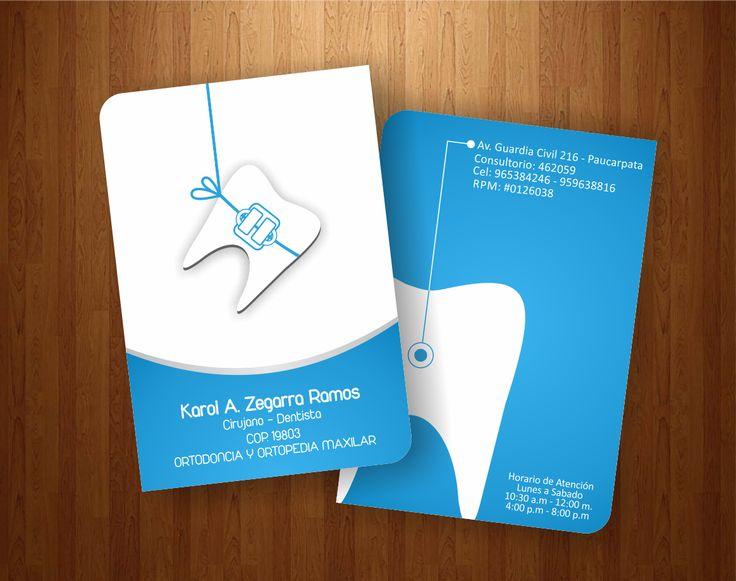 Tarjeta de Presentacion para un servicio dental