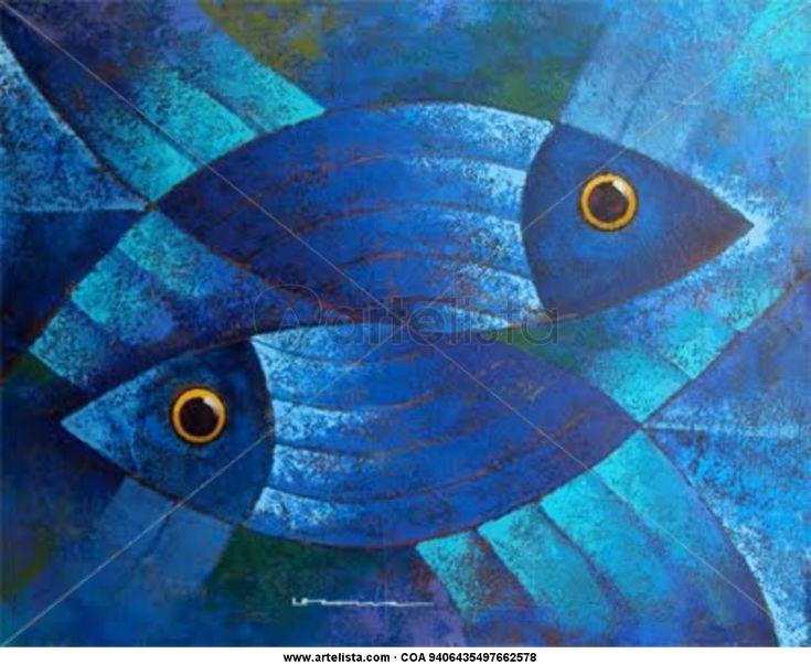 M s de 1000 ideas sobre pinturas de peces en pinterest - Cuadros con peces ...
