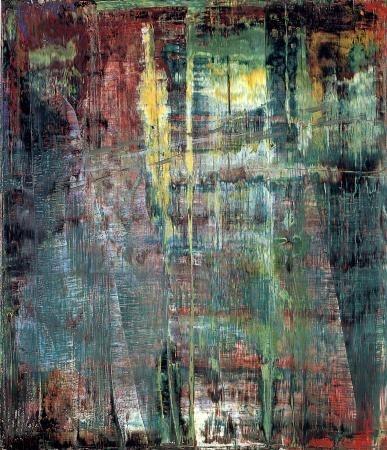 Gerhard Richter, Tableau abstrait, 1994,  Huile sur toile, Catalogue Raisonné: 801-1. http://www.gerhard-richter.com/art/paintings/abstracts/detail.php?paintid=8040