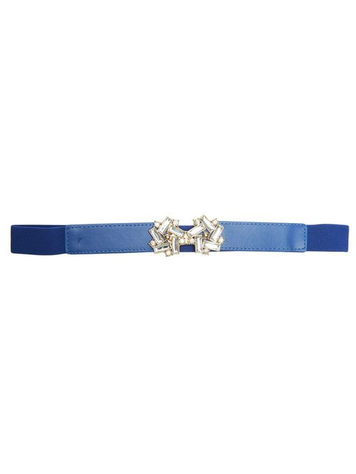 Rhinestone Buckle Stretch Belt