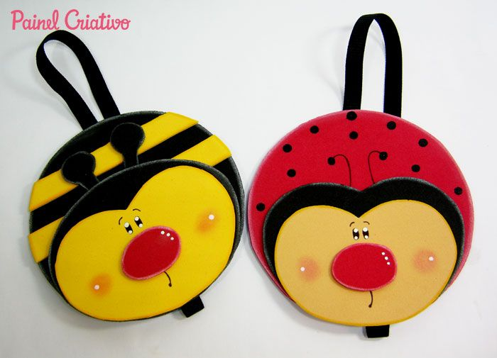 how to bookmark the page ladybug bee souvenir eva recycle old cd (1)