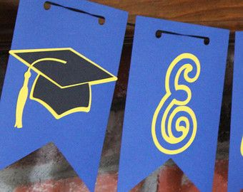 Graduation Banner Large Graduation Banner with by TheJoyfulHauss