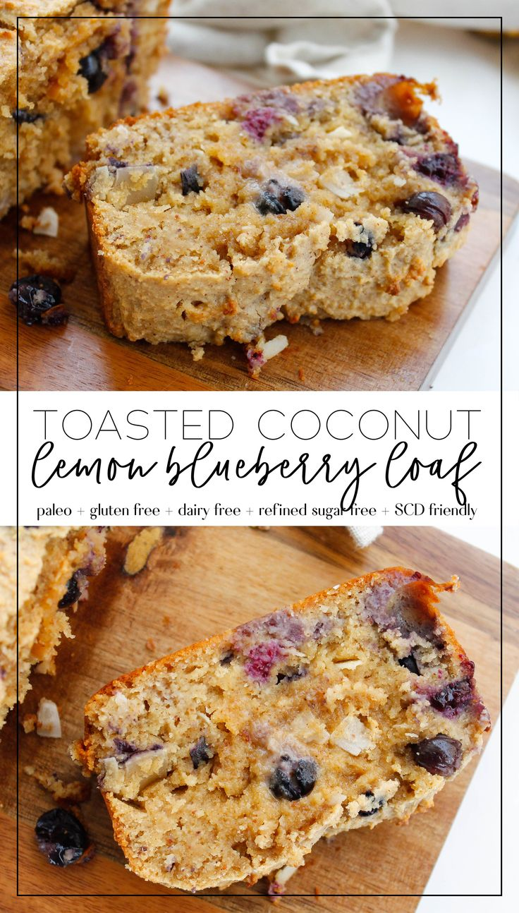 paleo lemon blueberry bread || the perfect healthy…