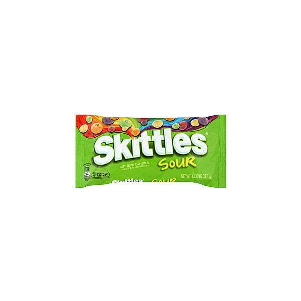 Skittles Bite Size Candies, Sour, 13.3 oz (377.1 g) ($2.99) ❤ liked on Polyvore featuring food and food and drink