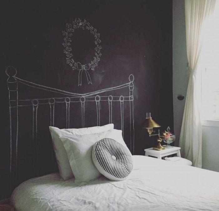 Les 25 Meilleures Id Es De La Cat Gorie T Te De Lit En Tableau Noir Sur Pinterest Murs De