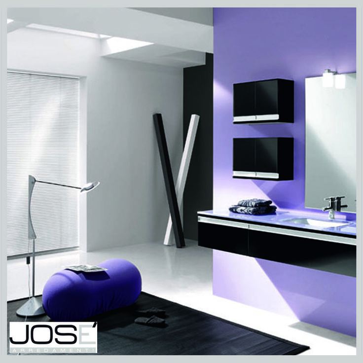 Bagno viola.. originalità e design.