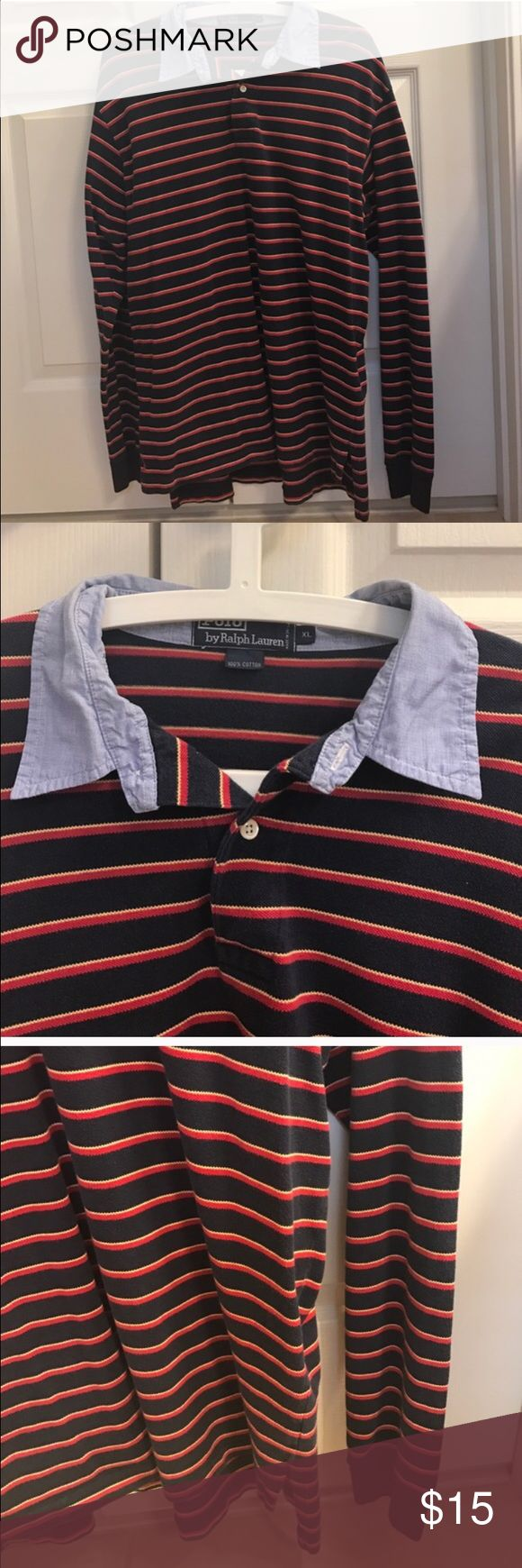 Size Xl Polo Ralph Lauren stripe long sleeve top Size Xl Polo Ralph Lauren stripe long sleeve top Polo by Ralph Lauren Shirts Polos