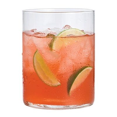 Island Girl Stir together 8 ounces (1 cup) cranberry juice cocktail, 8 ounces (1 cup) vodka, 4 ounces (½ cup) ginger ale, and 2 ounces (¼ cup) fresh lime juice in a large pitcher. Pour into ice-filled glasses, and garnish with lime wedges. Makes 4 servings..