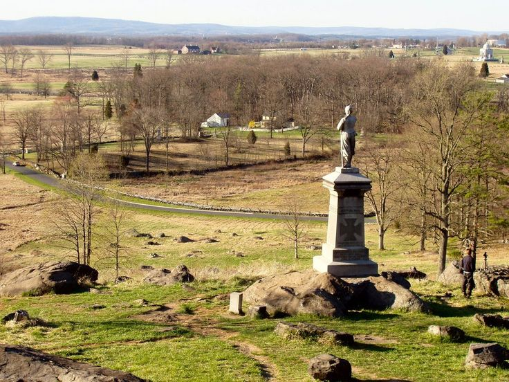 I visited Gettysburg, Pennsylvania on a dreary wet day many years ago.
