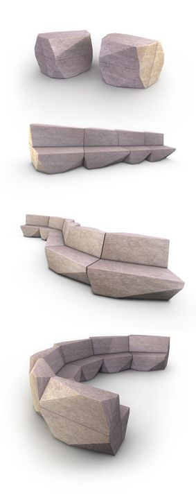Modular and adaptable furniture-Stone Park - Master's Thesis Project by Andre Portugal #furniture #design.