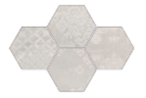 #Provenza #Gesso Esagona Patchwork Natural White 25,5x29,4 cm R303x0R   Feinsteinzeug   im Angebot auf #bad39.de 189 Euro/qm   #Mosaik #Bad #Küche