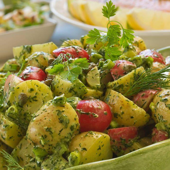 Fransk potatissallad med kryddgrönt