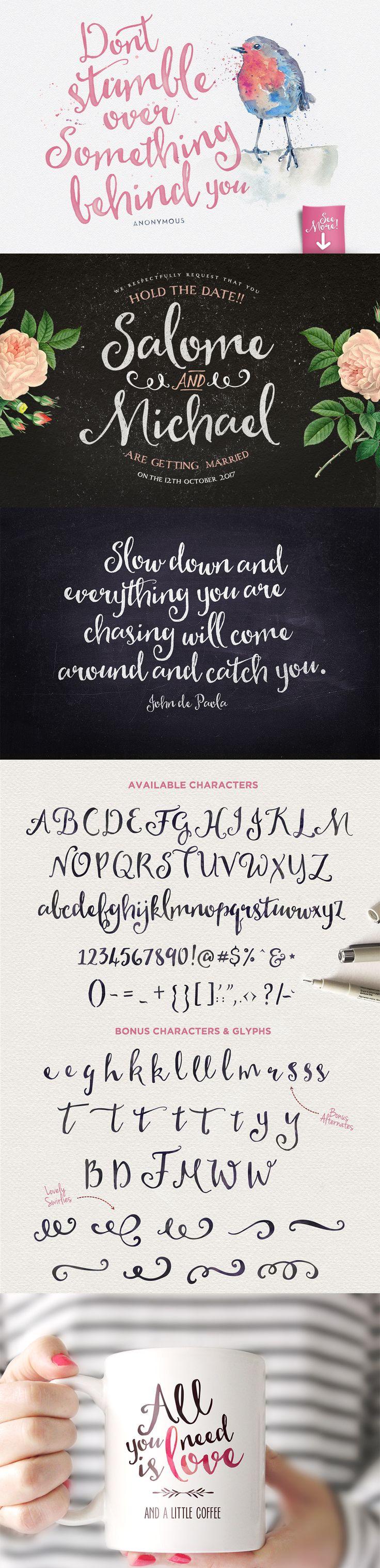 Heart & Soul Typeface #font #typography #design Download: https://creativemarket.com/Nickylaatz/199455-Heart-Soul-Typeface?u=nexion