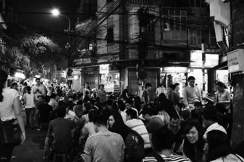 road street sidewalk, hanoi vietnam june '14