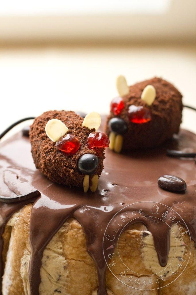 """Charlotte glacé Bailey's & Café {+ idée déco """"petits rats"""" pour Halloween!!!} -Cuisine Addict"""