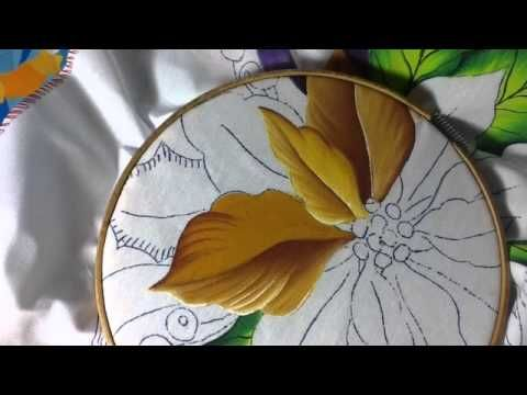 Pintura en tela camino flores # 1 con cony - YouTube
