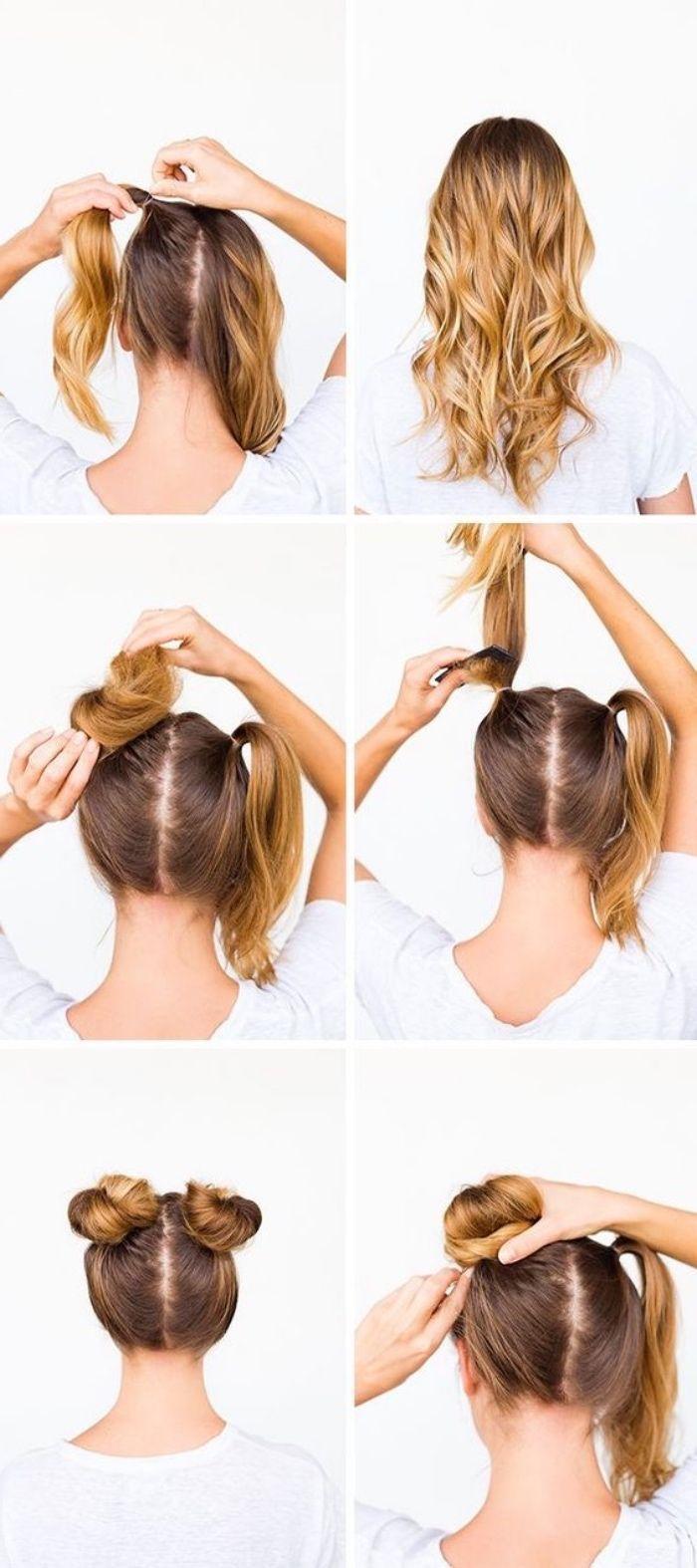 14++ Tuto coiffure cheveux mi long facile et rapide des idees
