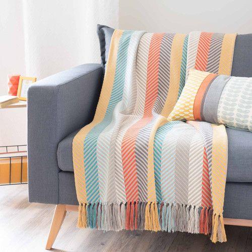 Colcha de algodón multicolor 160 x 210cm LIO