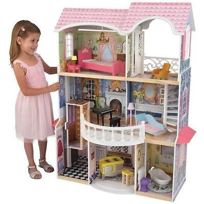 KidKraft-Magnolia-Mansion-Dollhouse-with-Furniture-Toy-New