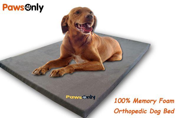 Large Brown Comfort Memory Foam Dog Bed