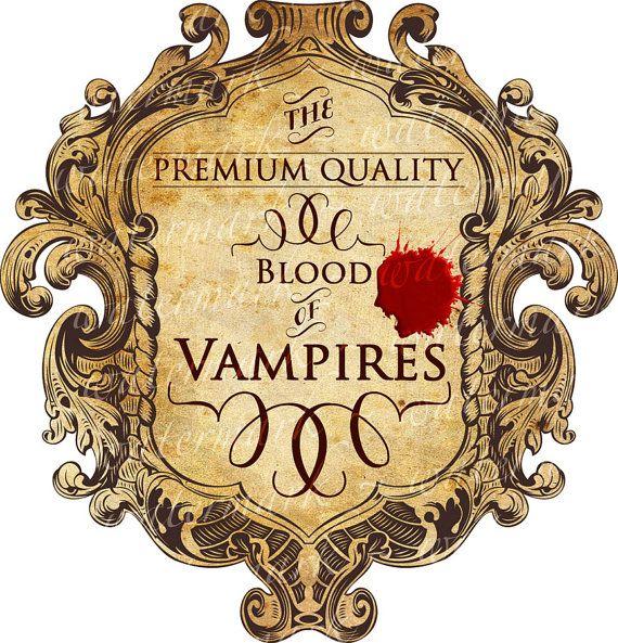 Sang des Vampires Halloween Spooky vin bouteille détiquette