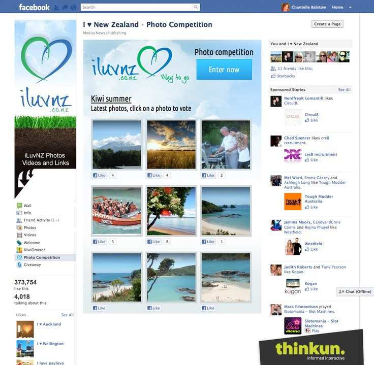 iluvnz.co.nz Facebook photo competition