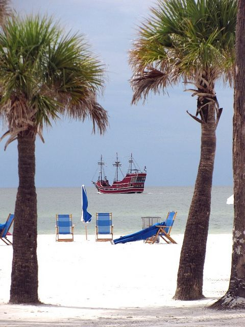 Clearwater Beach, Florida- the chairs are waiting for me and Julie, Jenna, Leslie